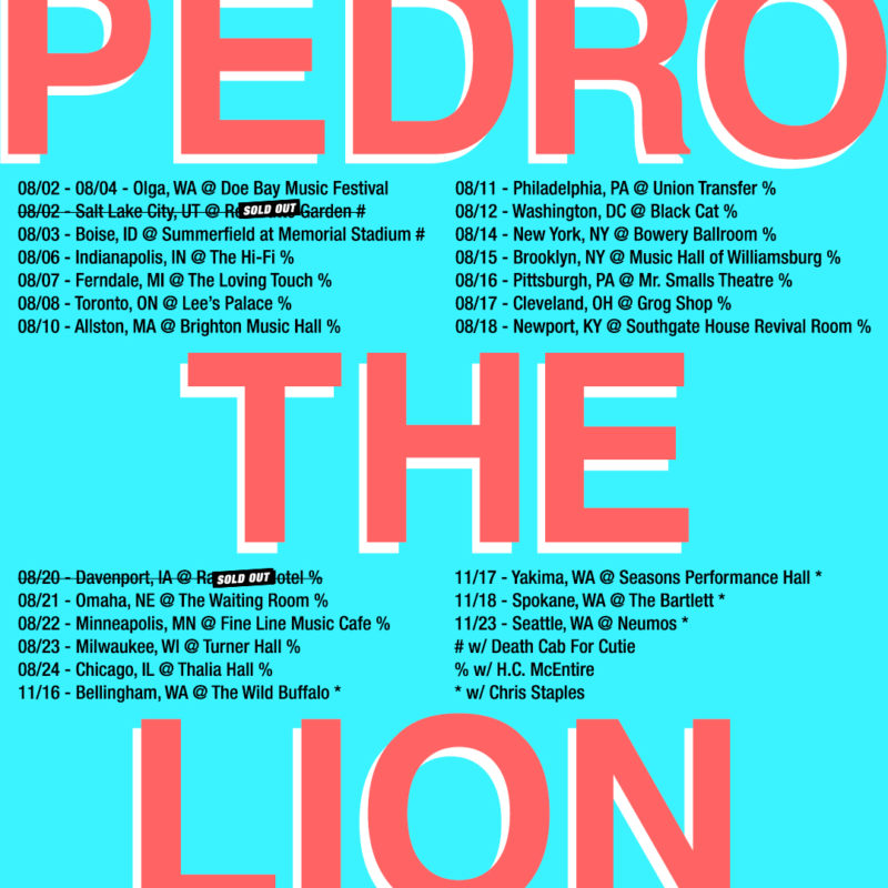 Pedro The Lion Goth Folk Never Give Up